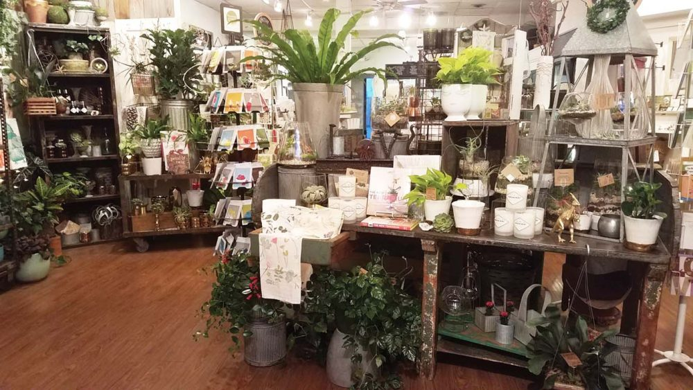 A view inside Strawberry Fields, a flower and gift shop in Richmond, Virginia.