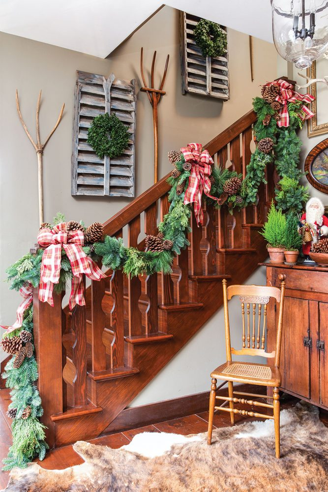 evergreen holiday garland