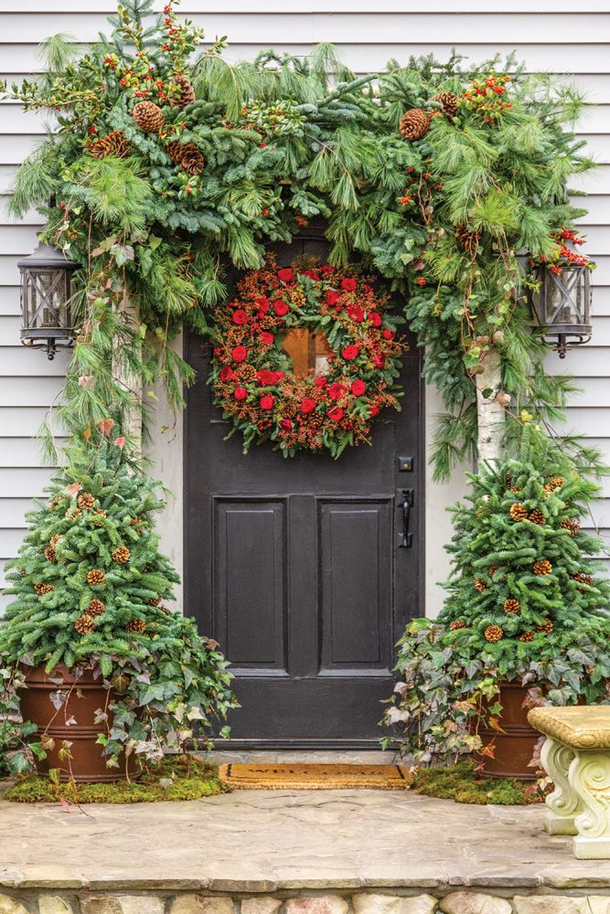 front door holiday decor