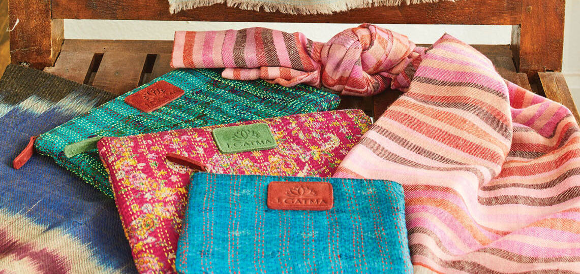 J. Catma clutches and scarves