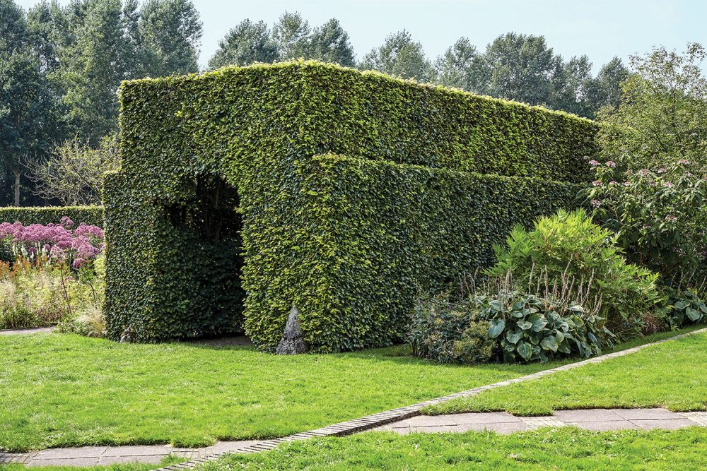 Piet Oudolf gardens, hedge tunnel