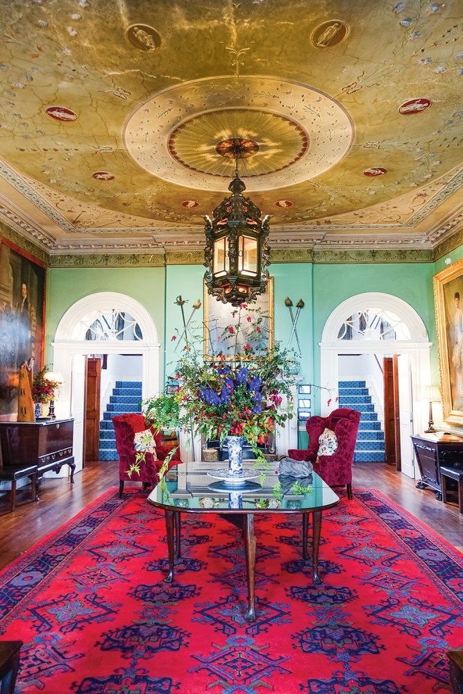 Front hall of Glin Castle Ireland