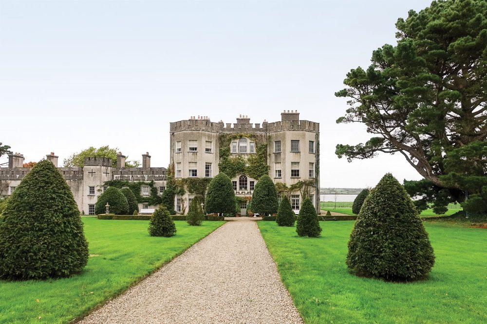 Grounds and exterior of Glin Castle Ireland