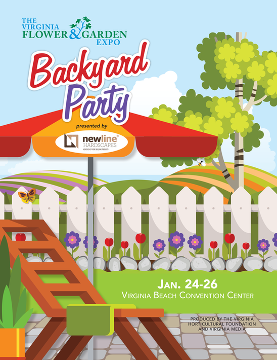 Flyer for The Virginia Flower & Garden Expo 2020