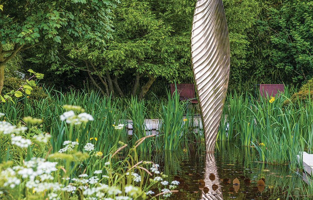 Falling Leaf sculpture by David Harber