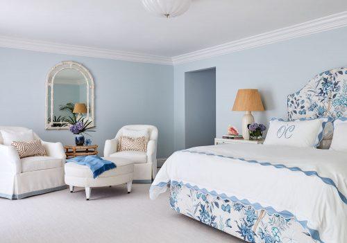 pale blue master bedroom