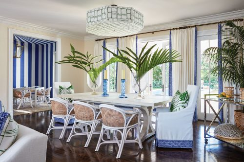 Palm Beach-style family room by Ellen Kavanaugh Interiors