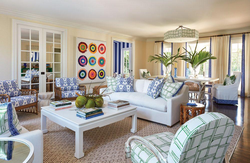 palm beach living room by Ellen Kavanaugh Interiors