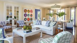 palm beach living room by Ellen Kavanaugh Interiors