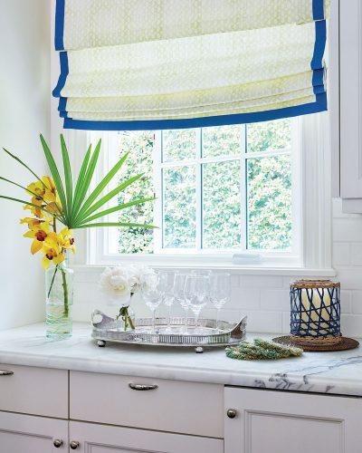 kitchen roman shade