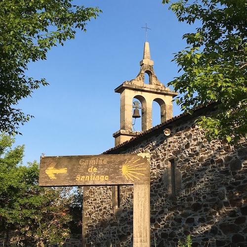 sign post along Camino de Santiago