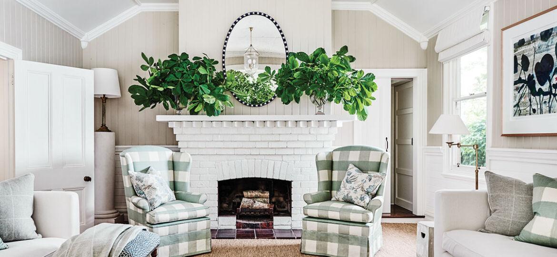 Living room of Australian designer Charlotte Coote