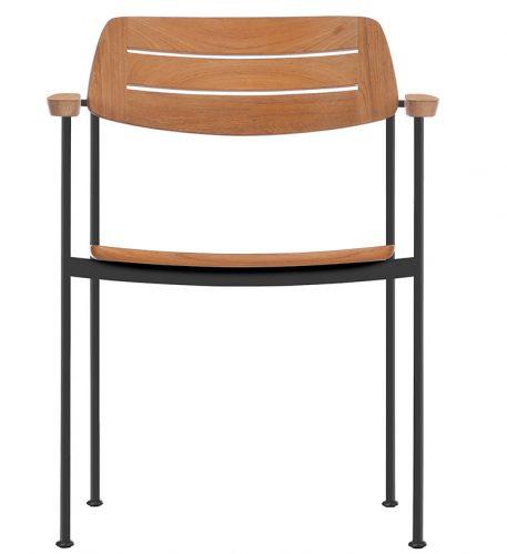 outdoor living essentials for 2020, stackable teak chair