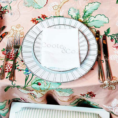 Charlotte Coote's personal style, dinnerware