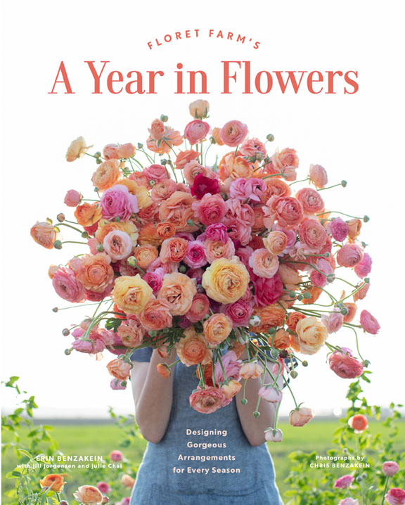 book cover for Floret Farms' A Year in Flowers
