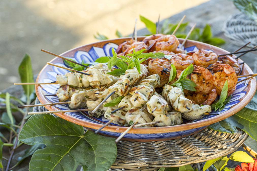 Chicken and Shrimp Kebabs