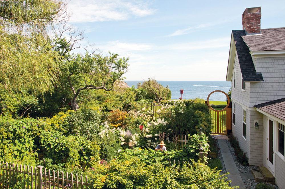 Maine coastal home and garden