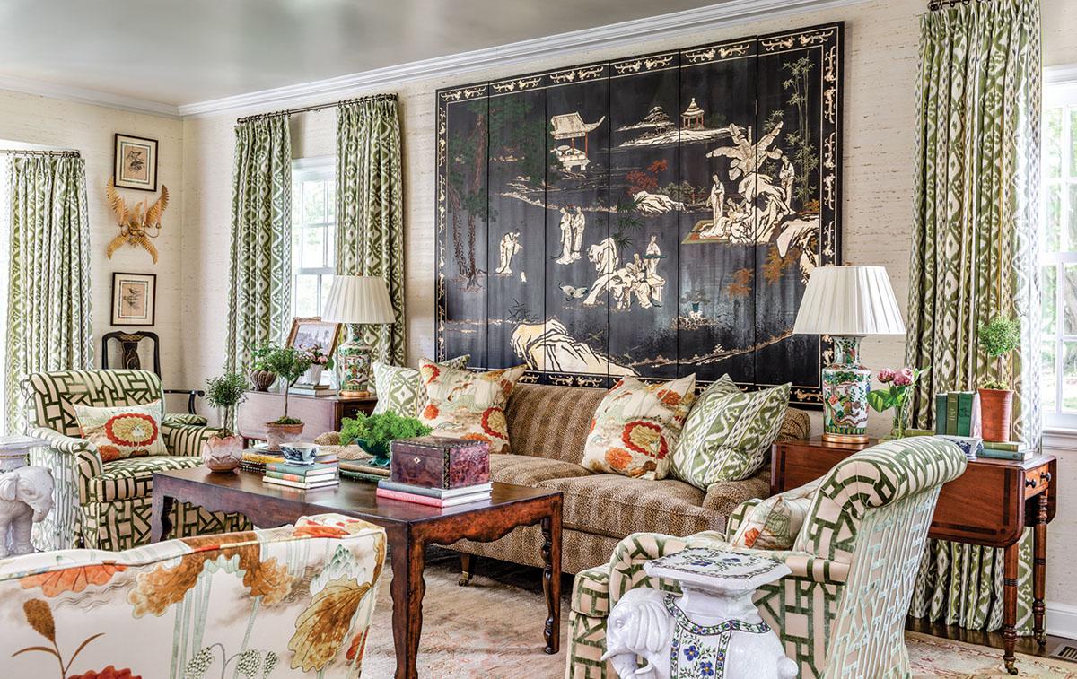 living room designed by James Farmer