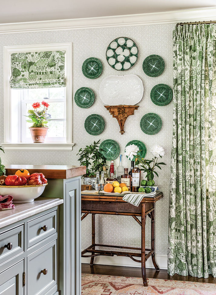 plate wall hanging in a kitchen by James Farmer