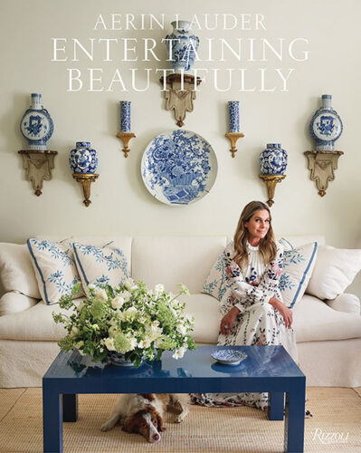 book cover for Aerin Lauder's Entertaining Beautifully (Rizzoli, 2020)