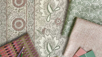 fabric and wallpaper samples