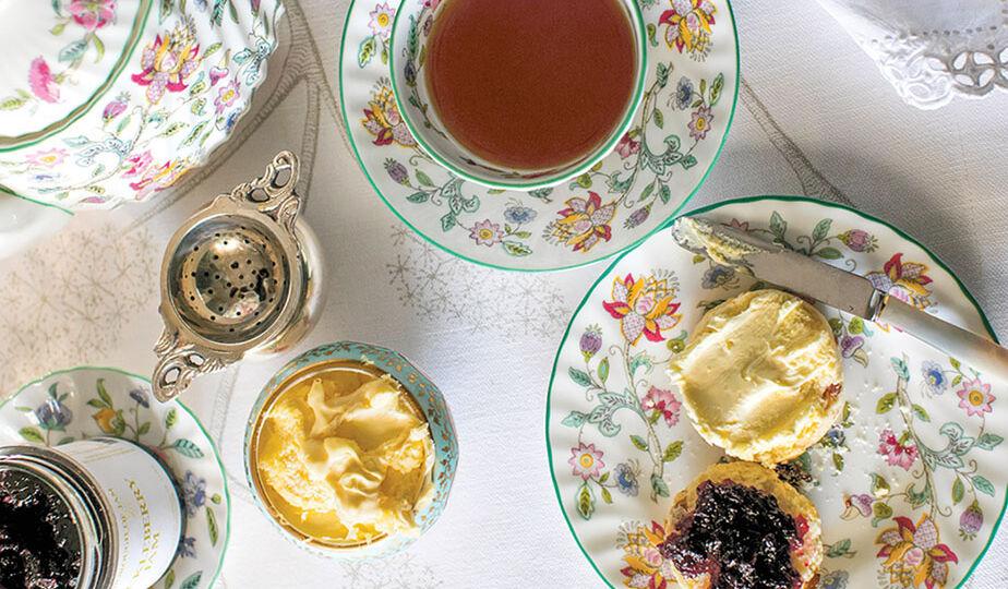 India Hicks' mother's tea set
