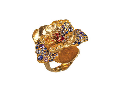 floral-inspired ring, Italian jewelry