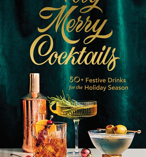 book cover for Very Merry Cocktails by Jessica Strand