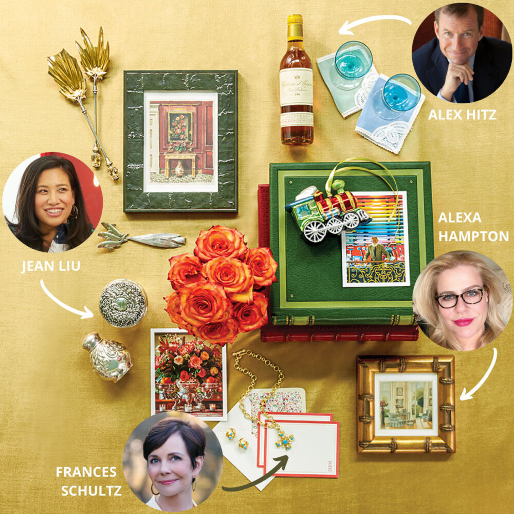 2020 holiday gift ideas from tastemakers ALEX HITZ, JEAN LIU, ALEXA HAMPTON, AND FRANCES SCHULTZ