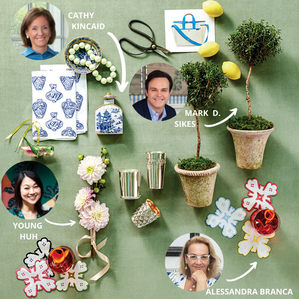 2020 holiday gift ideas from tastemakers YOUNG HUH, MARK D SIKES, CATHY KINCAID, and Alessandra Branca