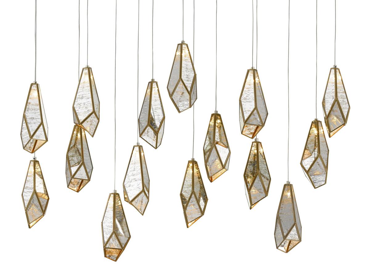Currey & Company Glace Multi Drop Pendant Light