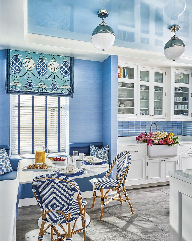 blue kitchen, interior design by Phillip Thomas