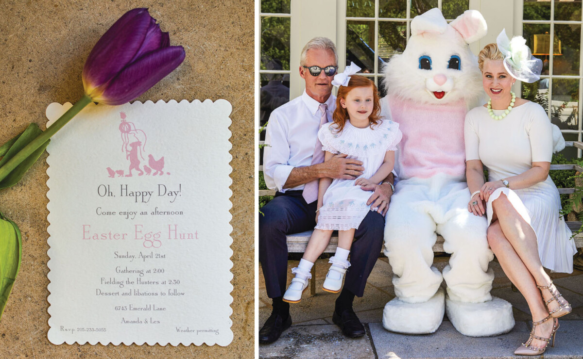 Easter invitation, family picture