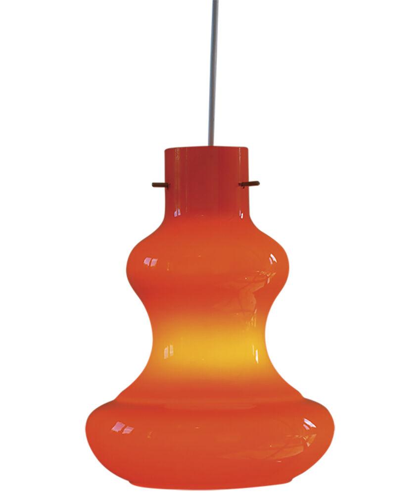 vintage orange glass pendant light