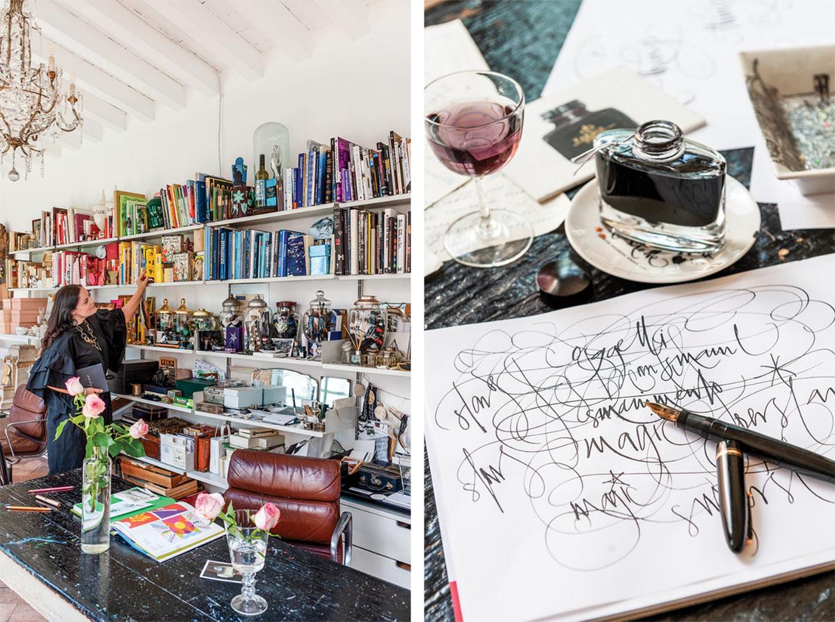 art studio, calligraphy