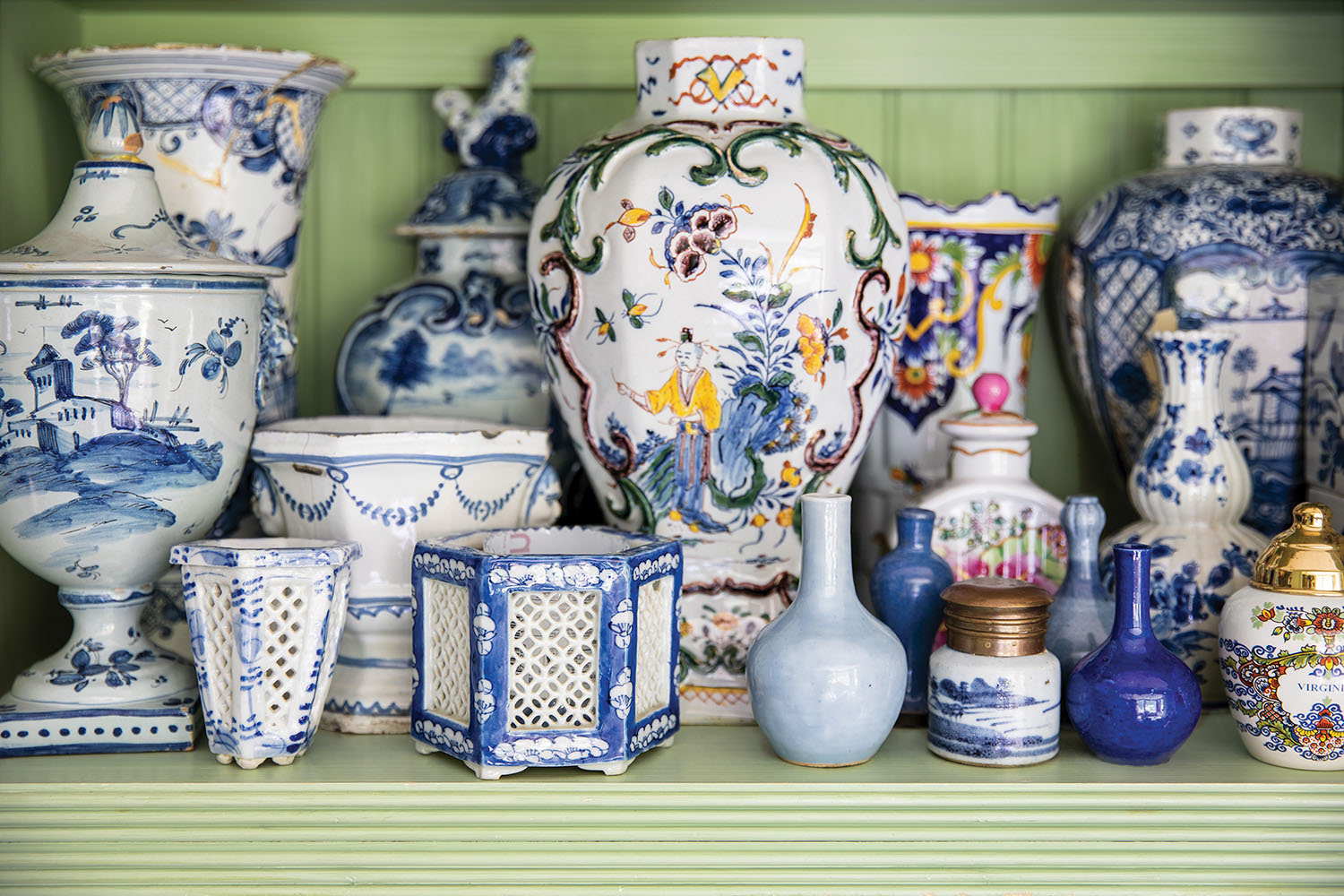 Charlotte Moss's collection of vases