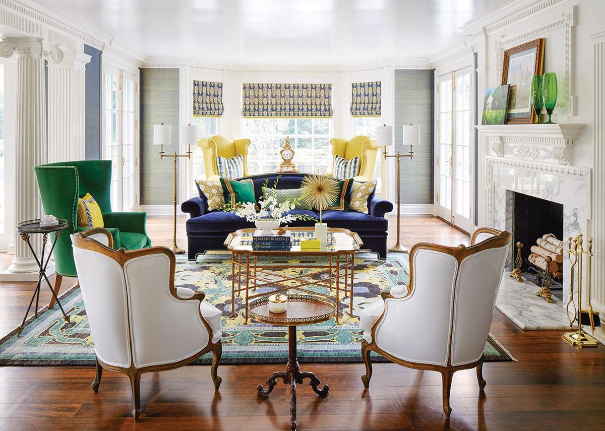 living room by by interior designer Corey Damen Jenkins