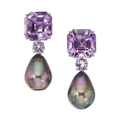 Colorful Home Decor and Accessories for 2021: color purple. Amethyst earrings