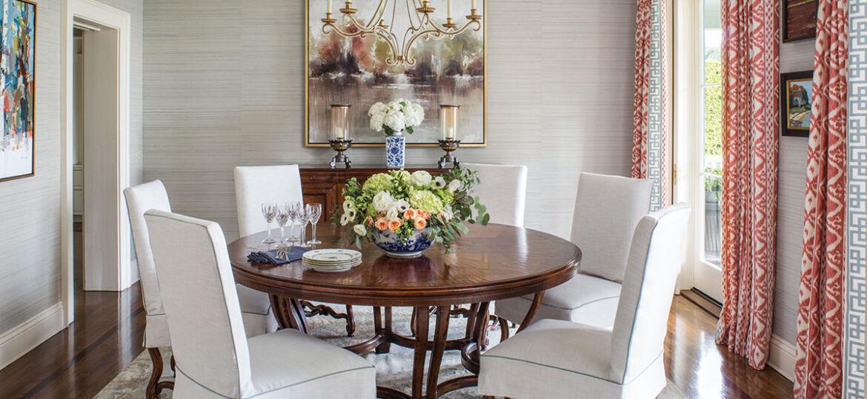 dining room designed by Emily Ruddo