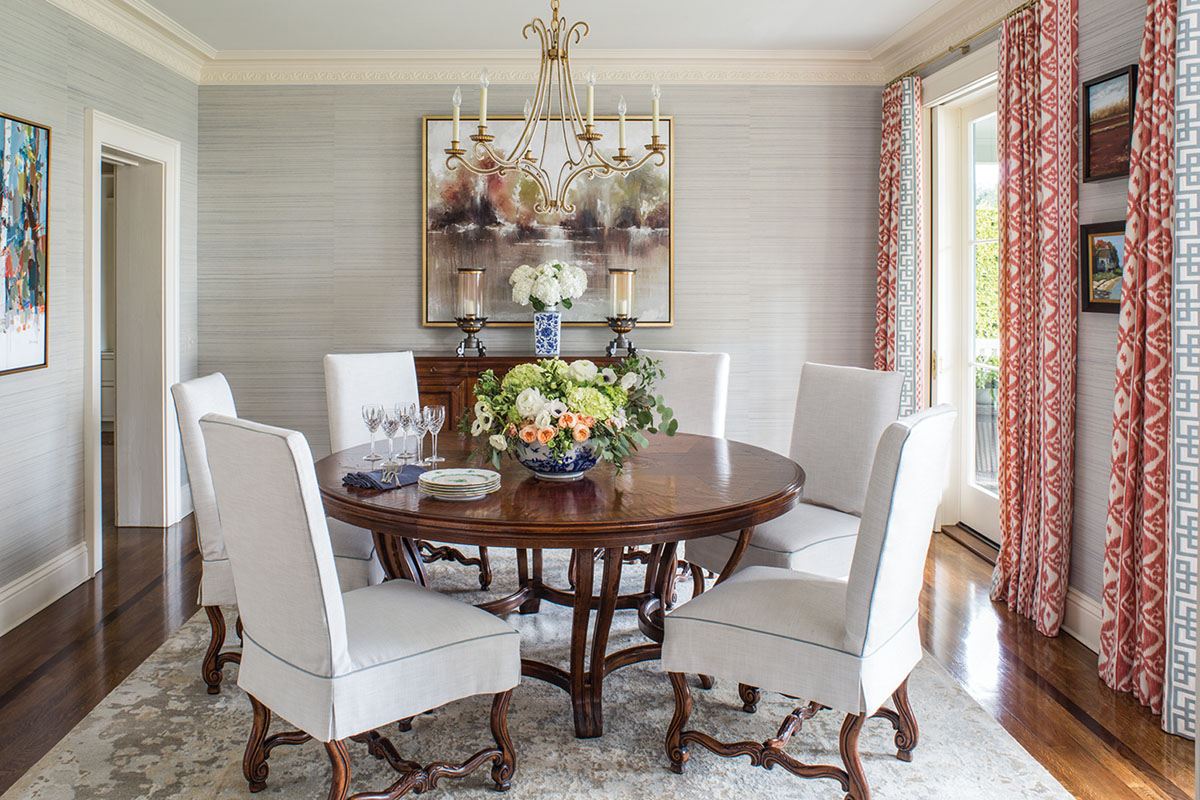 dining room designed by Emily Ruddo