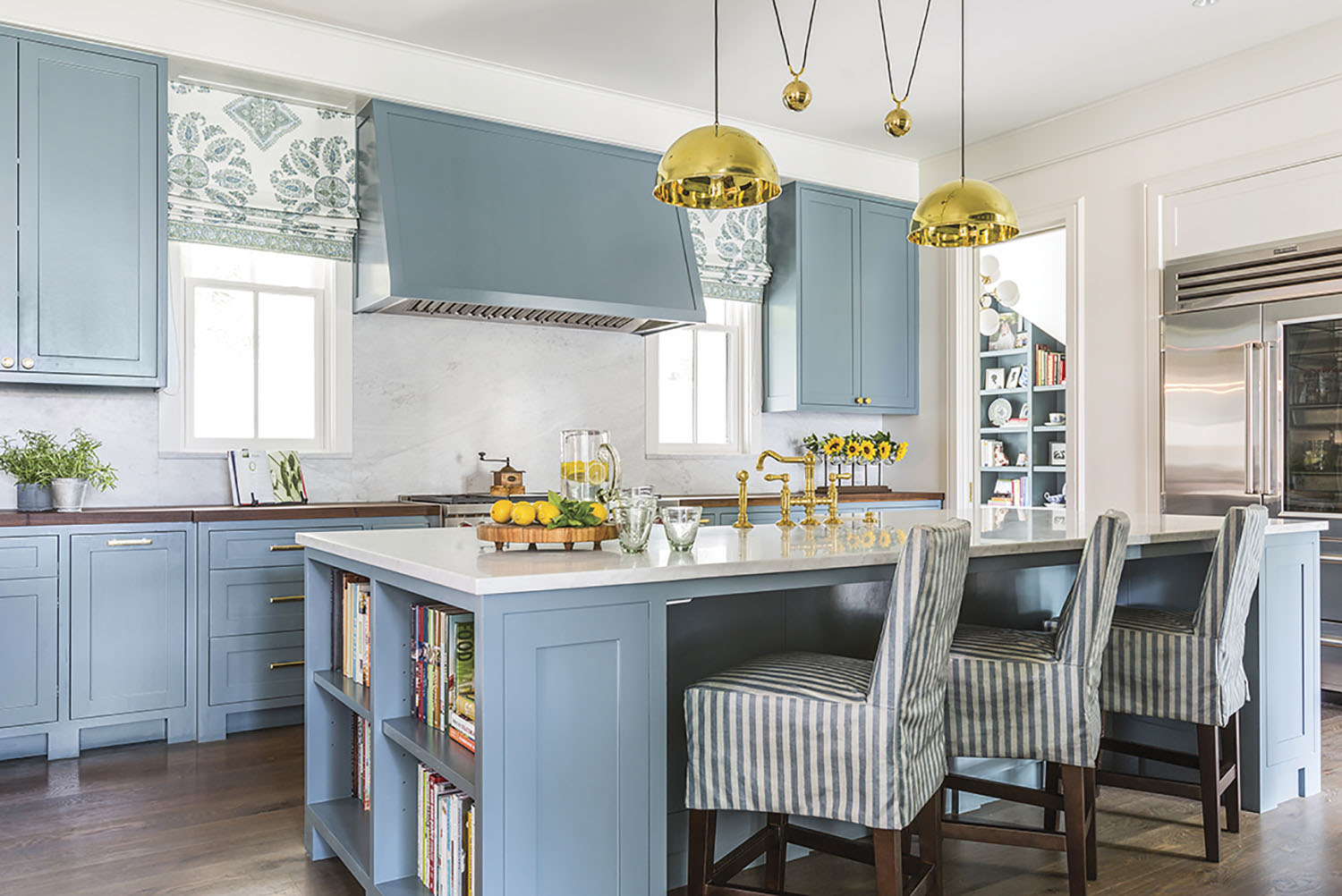blue-and-white kitchen by Lucas/Eilers Design Associates