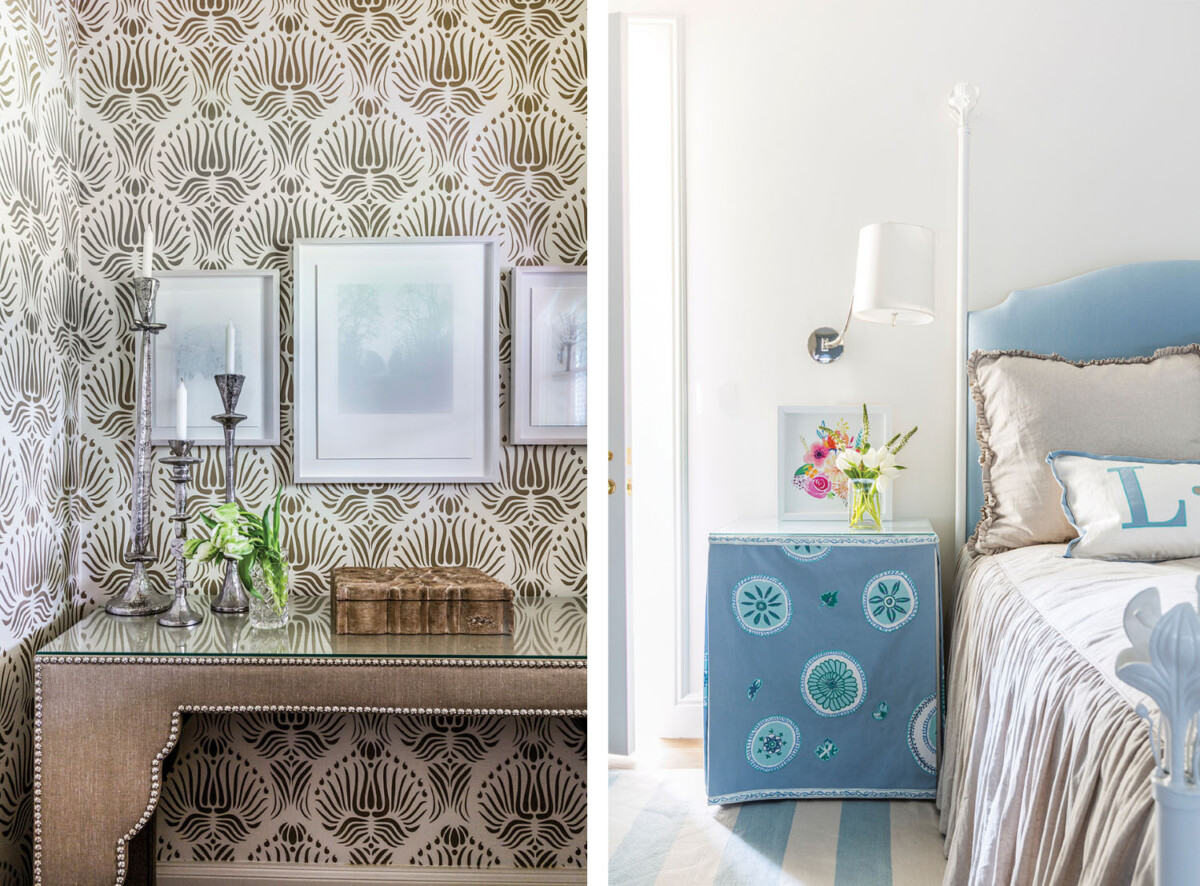 Powder room and bedroom by Lucas/Eilers Design Associates