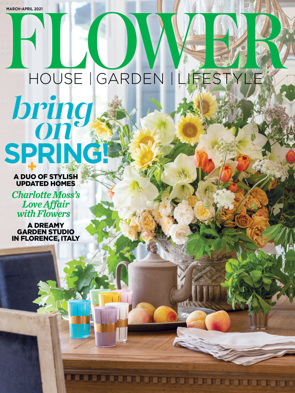 cover for Flower magazine March/April 2021