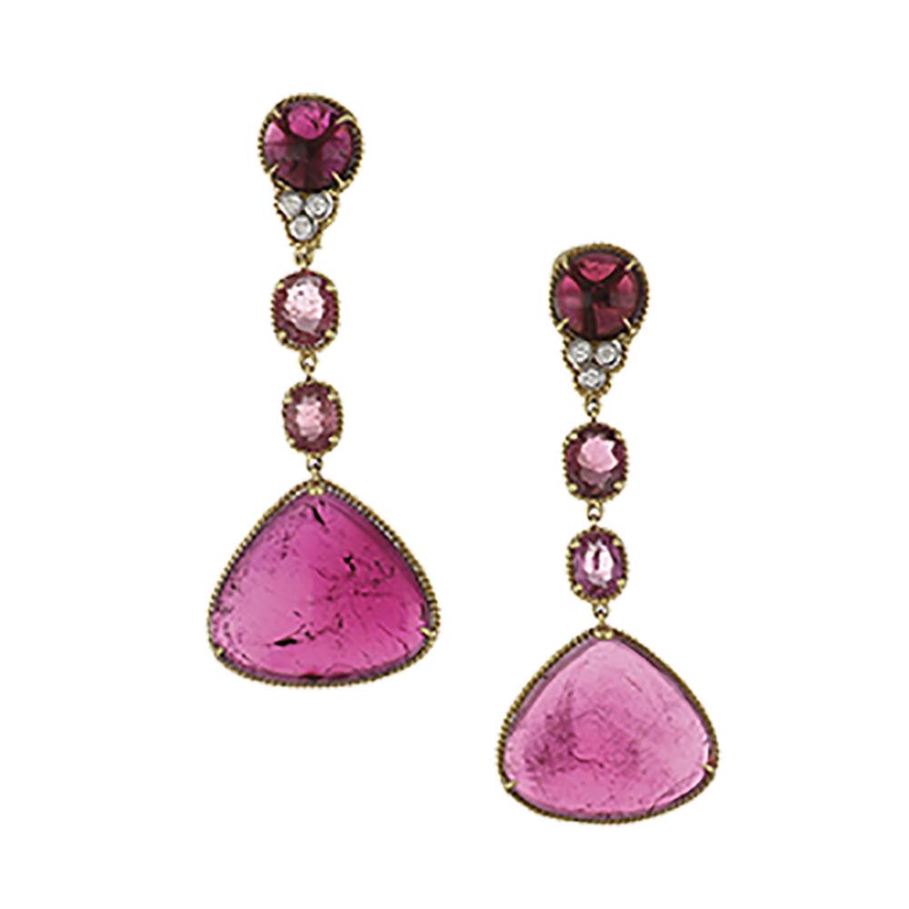 Pink Tourmaline Dangle Earrings