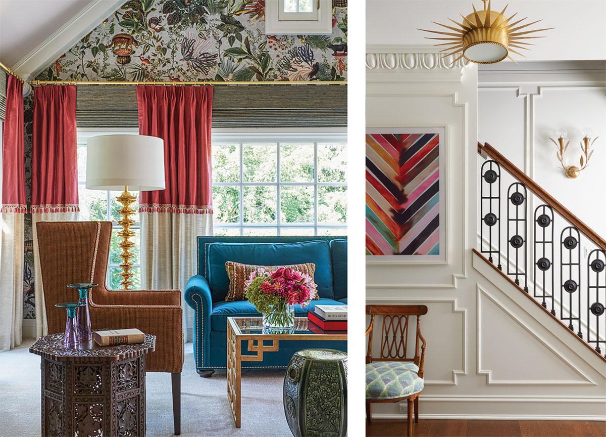 bedroom and stairwell by interior designer Corey Damen Jenkins