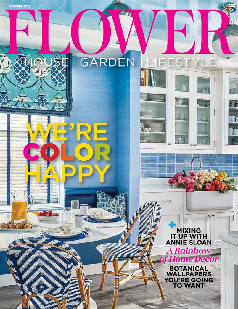 Flower magazine cover for January Febrary 2021