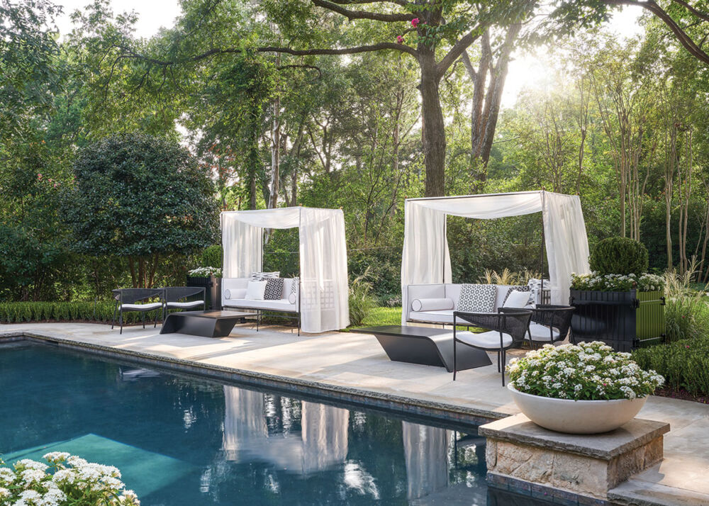 poolside furniture, Melissa Gerstle landscape design
