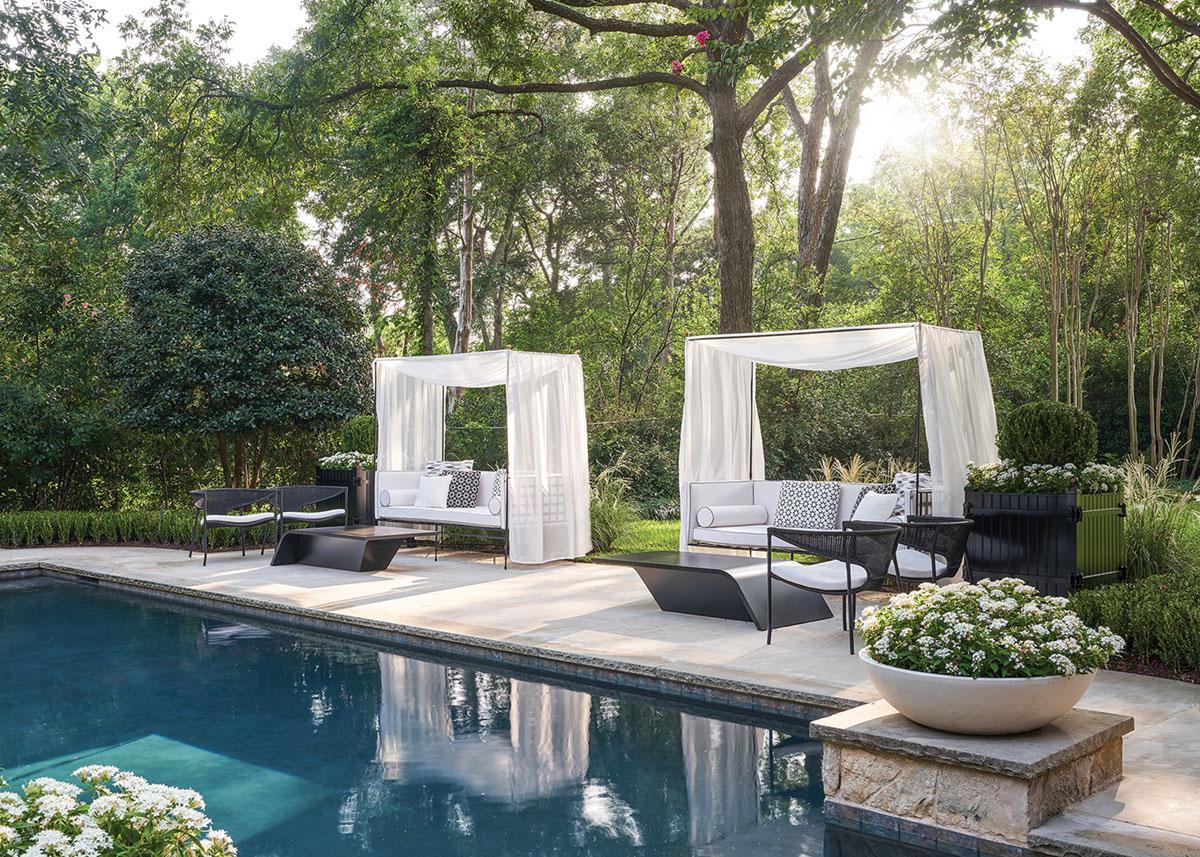 poolside furniture, Melissa Gerstle landscape design