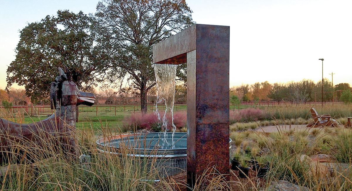 water features, garden art, Melissa Gerstle landscape design