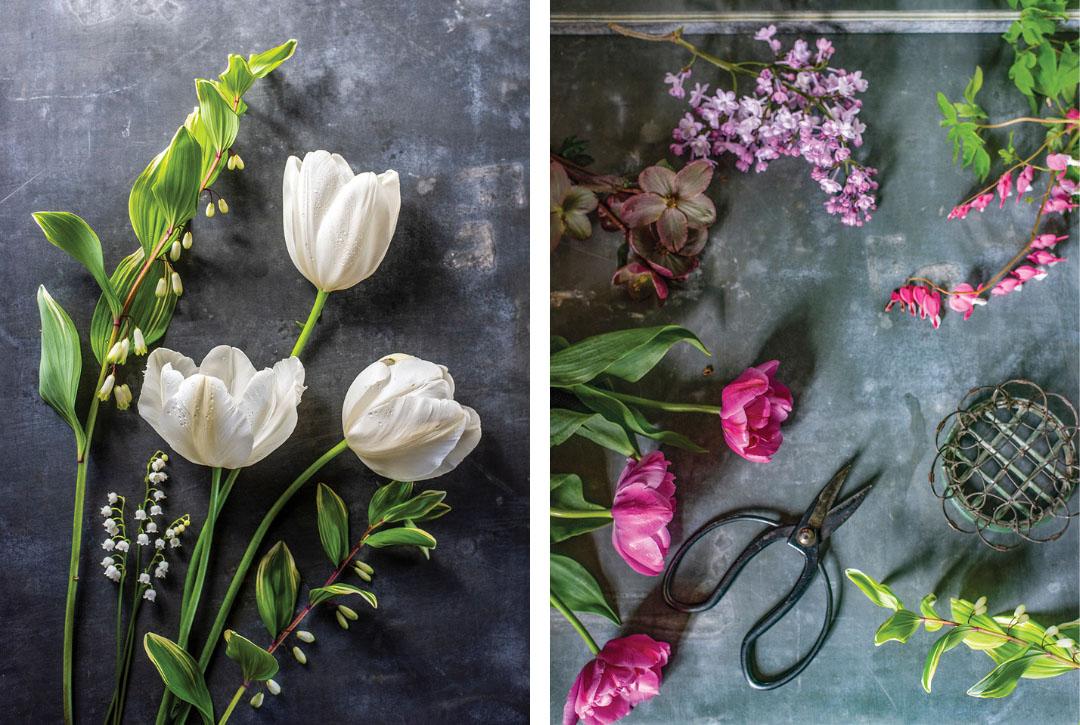 Sandra Sigman's flower arranging tools and materials